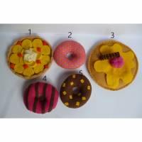 Donuts, Obstboden, Pfannkuchen, Auswahl, Kaufladen, Kinderküche, Essen, Spielessen, Filz, Kuchen, Gebäck, Bäckerei Bild 1