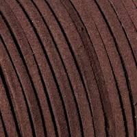 Veloursband, dunkelbraun, 3mm, Wildlederoptik, flach, 5 Meter Bild 1