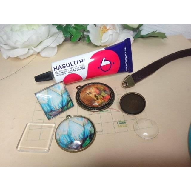 Hasulith Kleber für Cabochons, Leder & Metall Bild 1