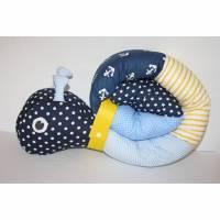 Puckschnecke für dein Baby, Anker, dunkelblau, gelb Bild 1
