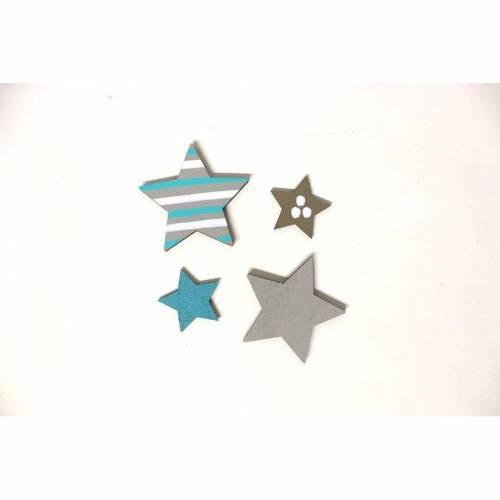 2 kleine + 2 große Sterne