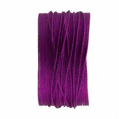 Macrameeband, Satinschnur, 25 Meter, violett, 0.8mm
