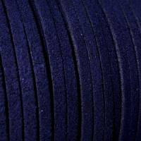 Veloursband, Wildlederoptik, mitternachtsblau, 5 Meter Bild 1