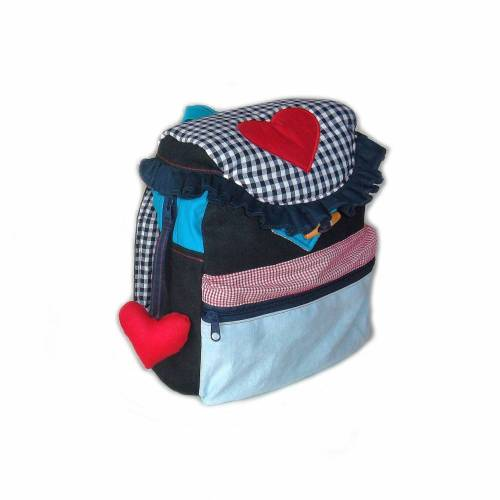 Kinderrucksack / Kindergartenrucksack Seemannsherz für Mädchen