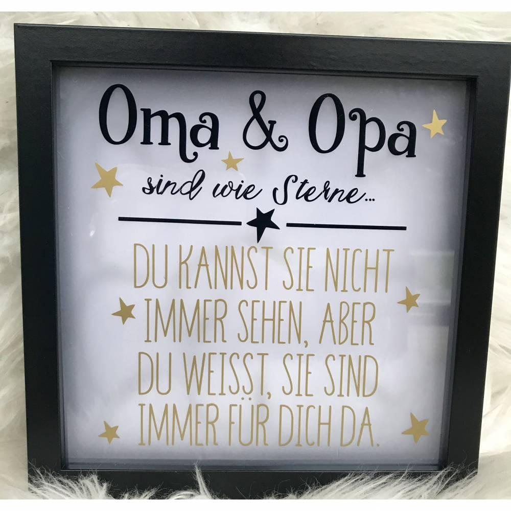 LED Bilder-Rahmen * beleuchteter Bilderrahmen * Oma & Opa Sterne Bild 1