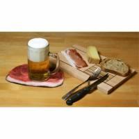Untersetzer Bierfilz Schinken