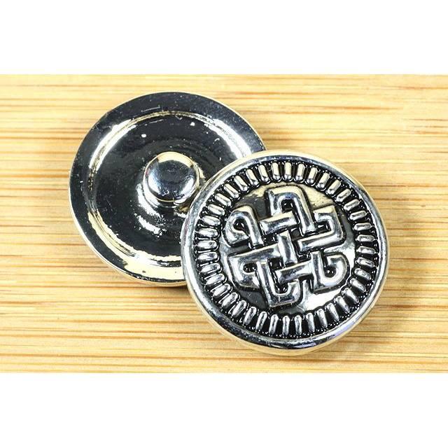 Druckknopf für Lederarmband, keltischer Knoten, 20mm Bild 1