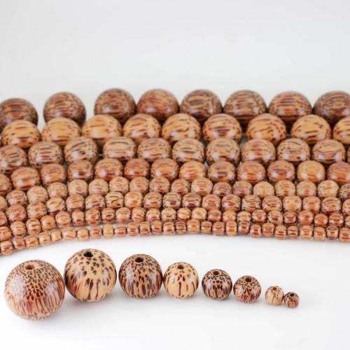 Palmenholz, Holzperlen, Schmuckfertigung, für edle Collliers, schönen Schmuck gestalten, Natürliche Holzkugeln aus Palmwood