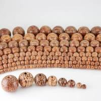 Palmenholz, Holzperlen, Schmuckfertigung, für edle Collliers, schönen Schmuck gestalten, Natürliche Holzkugeln aus Palmwood Bild 1