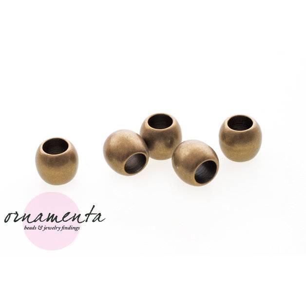 6Stk ~ 8mm ~ Messing ~ Metallperlen ~ Material zur Schmuckherstellung Bild 1