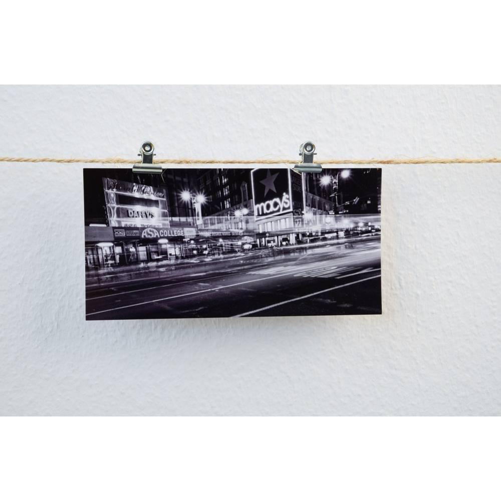 Postkarte XXL Panorama New York Macys Bild 1
