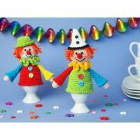 Häkelanleitung Eierwärmer Clowns - PDF Datei Bild 1
