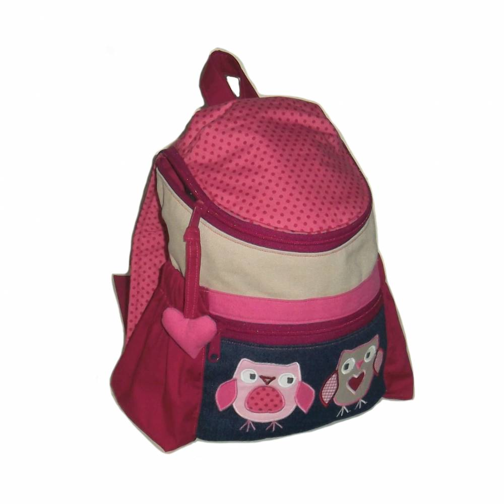 Kinderrucksack / Kindergartenrucksack Eulenpunkt für Mädchen Bild 1