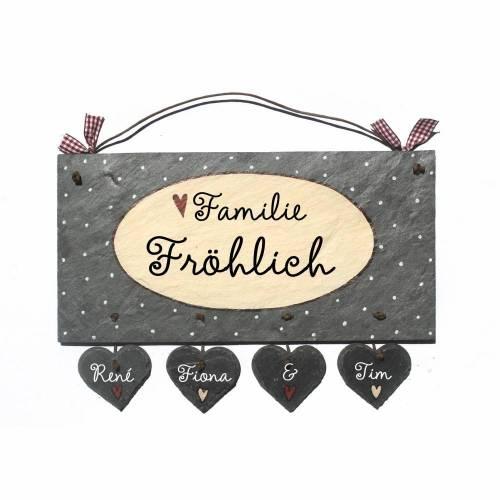 Weihnachtsgeschenk Türschild mit Herzanhänger