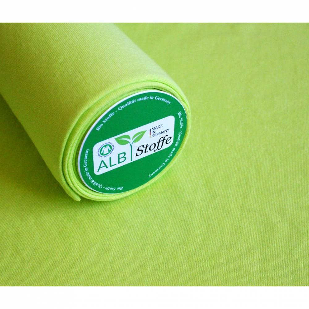 0,5m Bio-Bündchen, glatt, ALBSTOFFE lime Bild 1