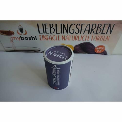 MyBoshi Lieblingsfarben - Färben mit Natur -  Blauholz=violett-Grau