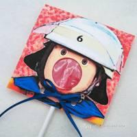 Kindergeburtstag Geburtstag Lolli-Einladung Feuerwehr Bild 1