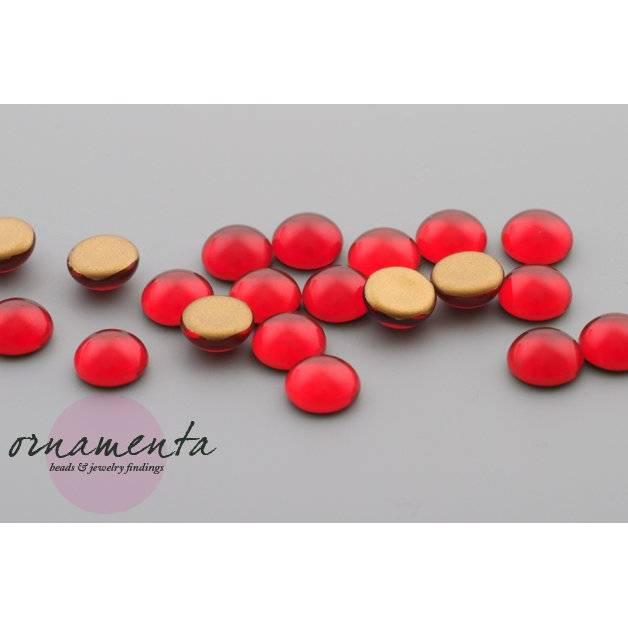 6 Cabochons ~ 8mm ~ rot ~ Glas ~ Material zur Schmuckherstellung Bild 1