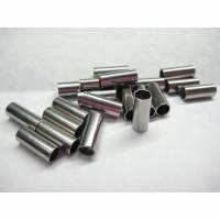 Edelstahl - Hülsen 10 x 5 mm, innen 4mm  10 Stück, Zwischenteile für schmuck Bild 1