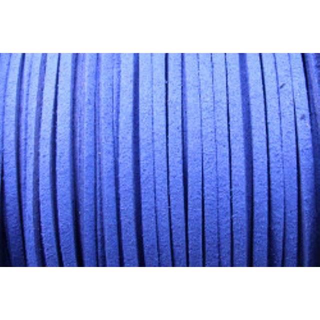 Veloursband, Wildlederoptik, flach, royalblau, 5 Meter Bild 1