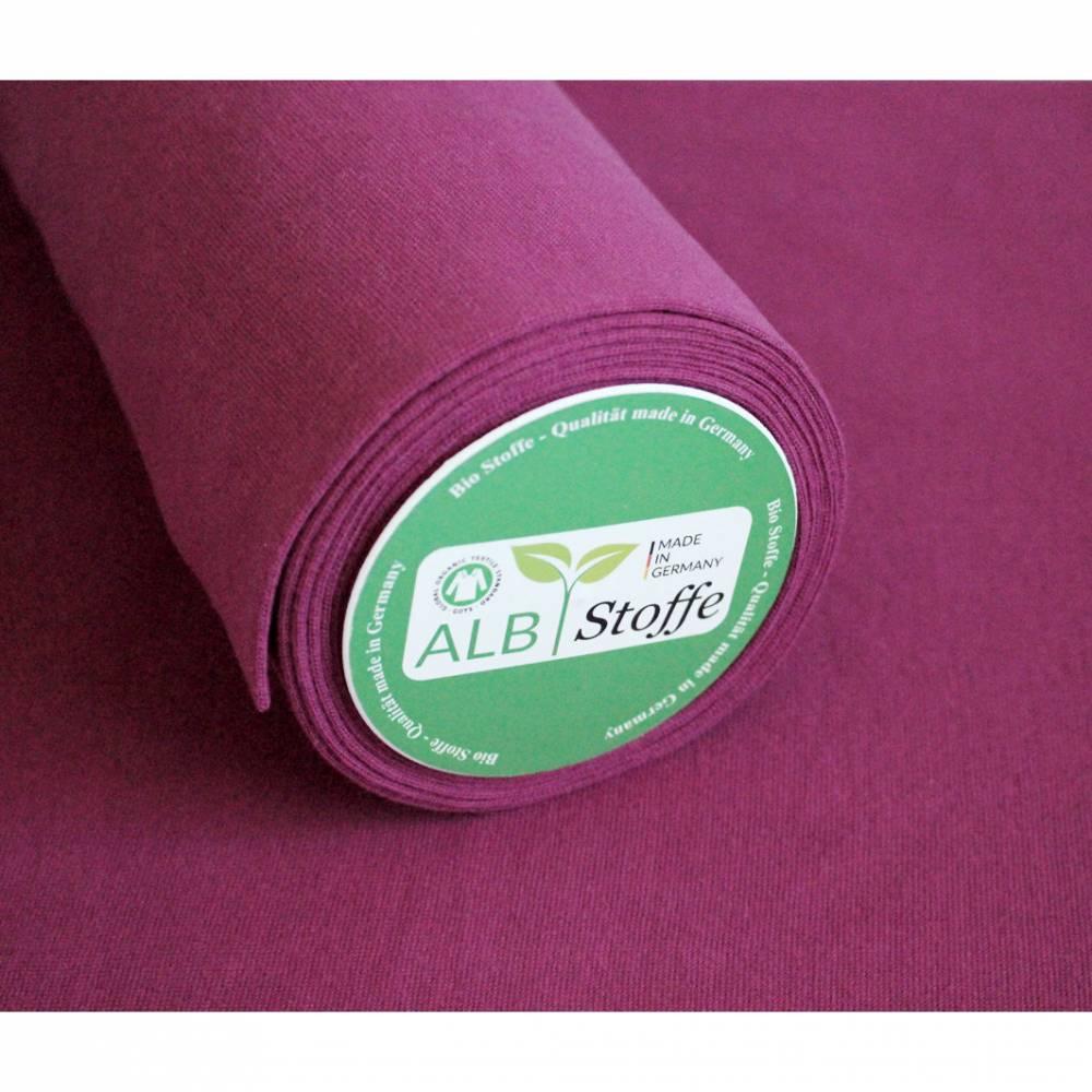 0,5m Bio-Bündchen, glatt, ALBSTOFFE pink/fuchsia Bild 1