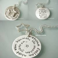 Sterne fallen nicht vom Himmel, sie werden geboren... das perfekte Geschenk für die Mami zur Geburt (mit den Geburtsdaten des Kindes) Bild 1