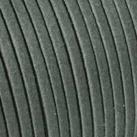 Veloursband, Wildlederoptik, flach, dunkelgrau, 5 Meter Bild 1