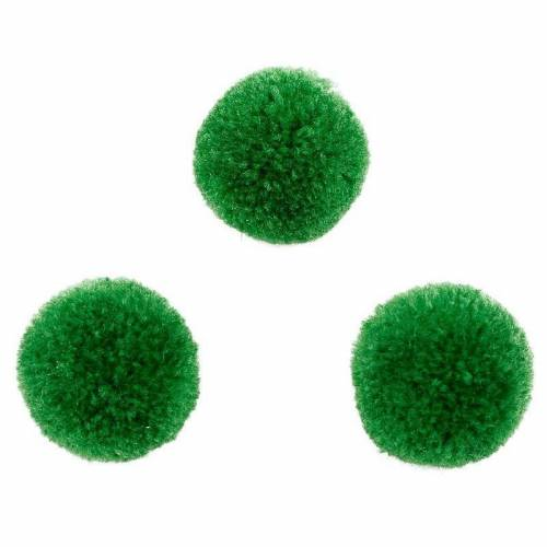 Puscheln, grün, 20mm, 5 Stück