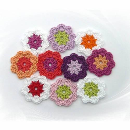 Blume 4,5 cm Häkelblumen Streuteile Blumen Farbwahl