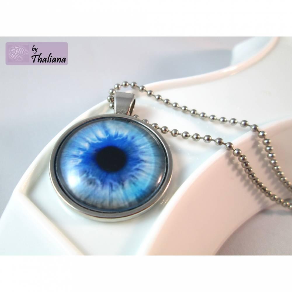 BLICK der Meerjungfrau blaue Kette mit Auge Bild 1