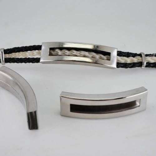 Gravurplatte, Überschieber, Gürtelschnalle, Hülse für  Armband, Edelstahlpatte für Armband,