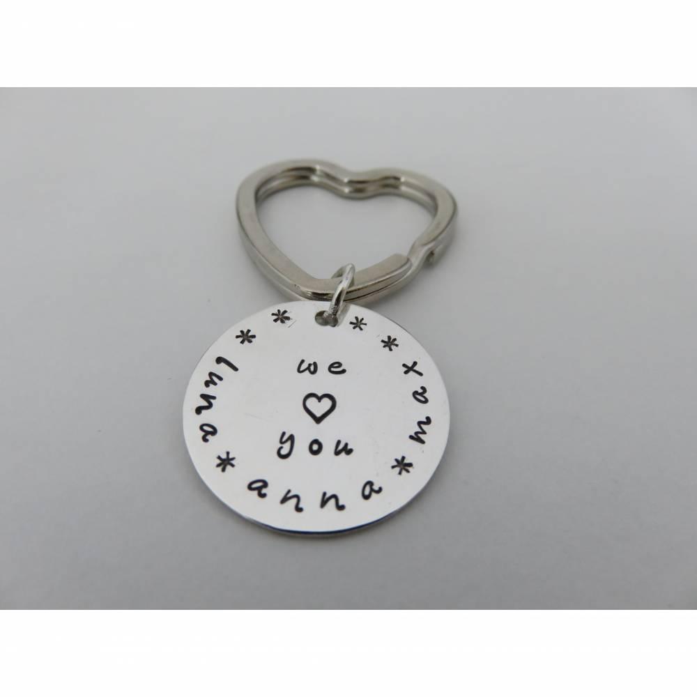 Schlüsselanhänger aus Silber 925 mit Gravur  (z.B. Name, Datum etc.) Bild 1