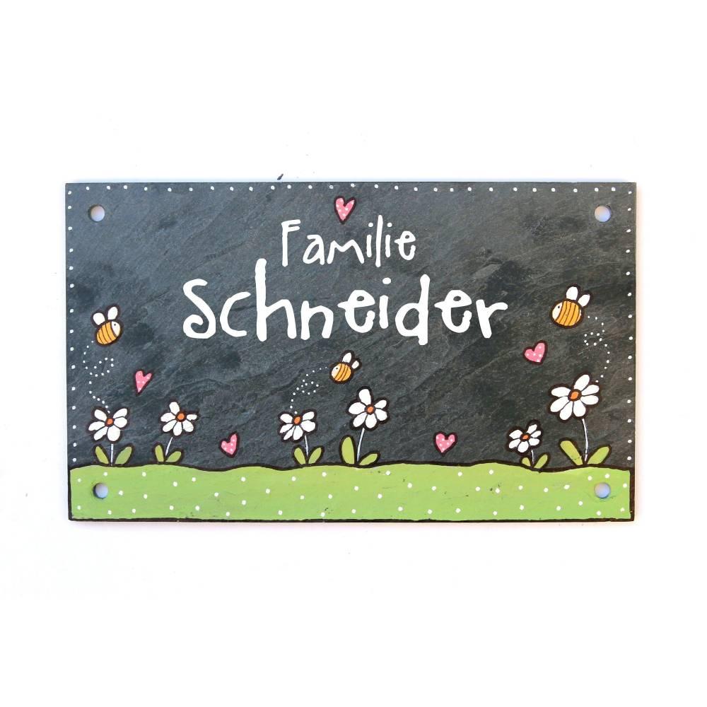 Personalisiertes Schild Herz « SPINNRAD » Türschild Name Schneider Spinnen