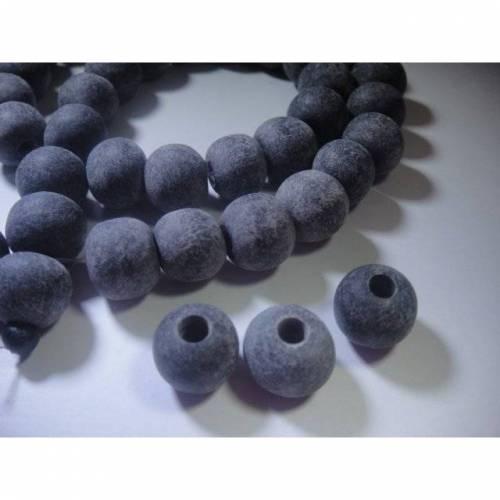 10 Großloch Perlen,Horn, 10-11mm, vom Wasserbüffel, Loch ca. 3,5mm, ideal für Lederbänder, Pferdehaarschmuck