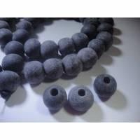 10 Großloch Perlen,Horn, 10-11mm, vom Wasserbüffel, Loch ca. 3,5mm, ideal für Lederbänder, Pferdehaarschmuck Bild 1