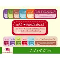 """DIY - Aufkleber   """"echt Handarbeit"""" personalisierbar mit Adresse,  Handmade Etiketten"""