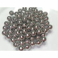 Edelstahl Kugeln, Edelstahl Material, 30 Stück, Kugel mit Loch 1mm, Perlen für Schmuckfertigung, 4mm Durchmesser Bild 1