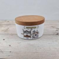 'Betthupferl' Porzellan Dose mit Holzdeckel Bild 1