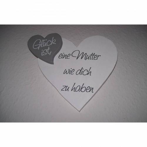 Herz zum Muttertag aus Holz