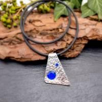 2-teiliges Schmuck-Set Dreieck mit blauen Steinchen Bild 3