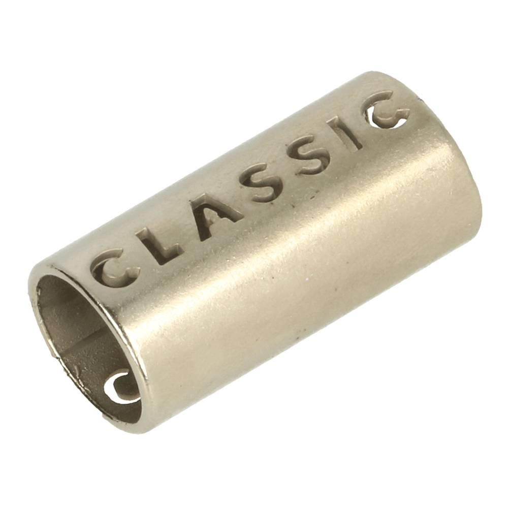 """1 Paar Kordelenden aus Metall """"classic"""" 8mm in matt nickel Bild 1"""