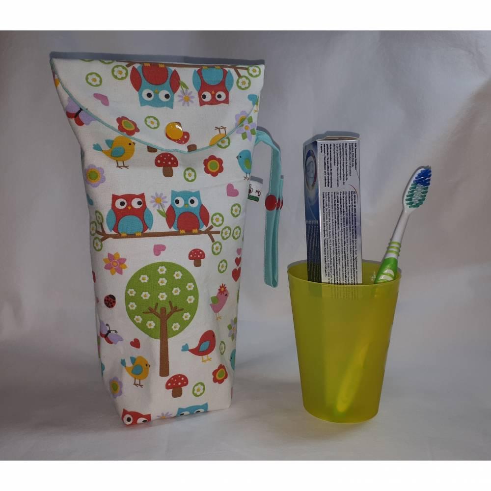 Zahnputztasche für Mädchen, Zahnputzbeutel, Zahnpflegebeutel, Kosmetikbeutel Bild 1