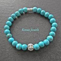 Kinderarmband Edelstein Türkis blau Buddha Kinder Armband  Bild 3