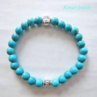Kinderarmband Edelstein Türkis blau Buddha Kinder Armband  Bild 5