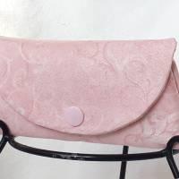 Mini Täschchen rosa meliert Masken-Tasche Taschentuchtasche Bild 1