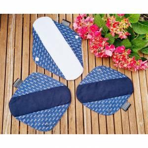 Teste-Mich 3er Set waschbare Stoffbinden mit Muster deiner Wahl - (Damenbinden/Slipeinlagen)