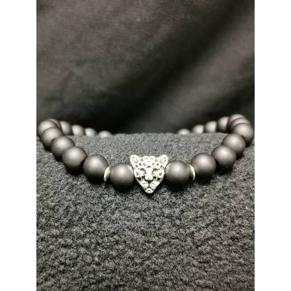 Tiger Armband - Acrylperlen - black 1 Bild 1