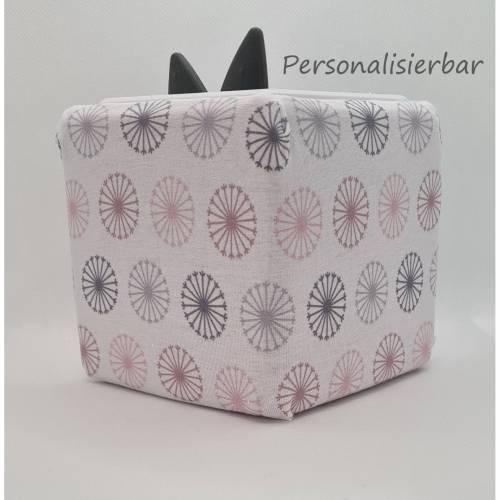 Toniebox Schutzhülle Pusteblume Pastell, mit Personalisierung, Schutzbezug Toniebox, Musikbox Bezug,Toniebox Bezug