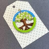 """Exklusiver Zwirnknopf-Anhänger """"Blütenbaum"""" Bild 1"""