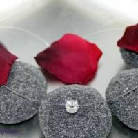 schwebender Kristallstein - transparente Kette + der Klassiker + fliegender Stein - Halskette durchsichtig Bild 2
